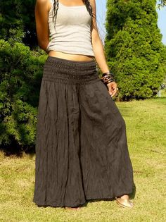 572e1725bd8bc Plus Size   Palazzo Pants With Very Elastic Waist   Gaucho Pants   Thai  Harem Pants Women   Aladdin