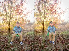 laughing; leaves; fall portraits; cool little boy pictures ~ by abi ruth