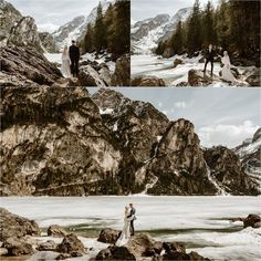 Erika & Nathan climb the rocks around the shores of Lago di Braies in the Dolomites. Elopement Photos by Wild Connections Photography Elope Wedding, Italy Wedding, Wedding Shoot, Mountain Elopement, Elopement Inspiration, Northern Italy, His Travel, Greatest Adventure, City Streets