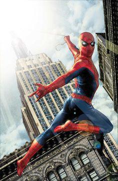 #Spiderman #Fan #Art. (Spiderman in New York) By: Jay Anacleto. [THANK U 4 PINNING!!]