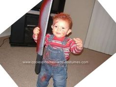 coolest homemade baby chucky and bride of chucky costume - 10 Month Old Baby Boy Halloween Costumes
