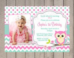 owl birthday invitation by aliciapatios on Etsy