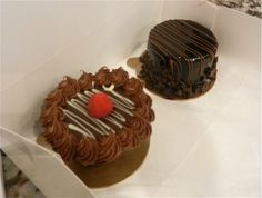 Chocolate Truffle Cake and Chocolate Mousse