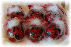Personalized Ladybug Christmas ornament Big Sister, Baby's First etc