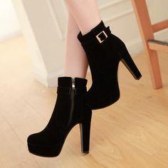 Korean Strap High-Heeled Zipper Shoes SD00383