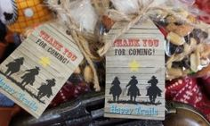 Free Cowboy Party Favor Tags Printable - Raw Food, Whole Food, Gluten & Dairy Free Recipes