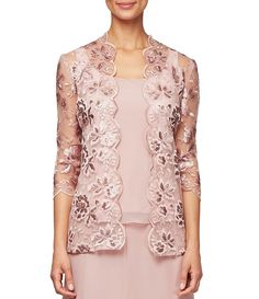 Shop for Alex Evenings Sleeve Embroidered Twinset at Dillard's. Visit Dillard's to find clothing, accessories, shoes, cosmetics & more. The Style of Your Life. Lace Blazer, Lace Jacket, Mother Of Bride Outfits, Mother Of The Bride, Suits For Women, Clothes For Women, Lace Dress Styles, African Fashion, Girls Dresses