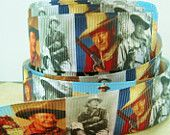 7/8'' -  22 mm John Wayne Movie Ribbon