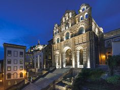 L'ensemble cathedrale - Hotel-Dieu. Le Puy-en-Velay.