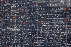 """to do: hike up to monmarte in paris ... where you find this with every language writing """"i love you"""""""