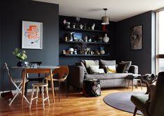 My flat / Photography: Ola O Smit  Down Pipe Farrow & Ball paint
