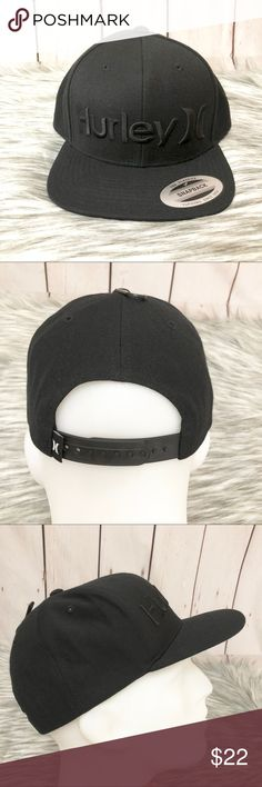the best attitude e84bb a321c Hurley One and Only Snap Hat - Black New with tag One and Only Snap Acrylic  Wool Hurley Accessories Hats