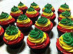 rasta cupcakes