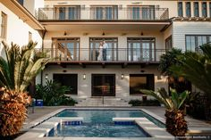 Bride and groom on balcony over pool in Mexico, palm leaf decor Destination Weddings, Real Weddings, Excellence Riviera Cancun, Spring Wedding, Balcony, Wedding Photos, Groom, Mexico, Wedding Inspiration