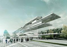 Beton Hala Waterfront / Erik Giudice Architects - Serbia