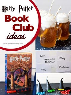 Some easy and fun ideas for hosting a Harry Potter book club discussion. #overstuffedlife