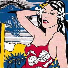 Roy Lichtenstein	  American Painter (Pop Art)	  1923-1997	      Aloha, 1962