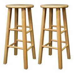 "Furniture - The set of 2 30"" Square Leg Kitchen Stools are classic, simple and versatile. An essential and great for any counter, bar or kitchen area. The stools will provi"
