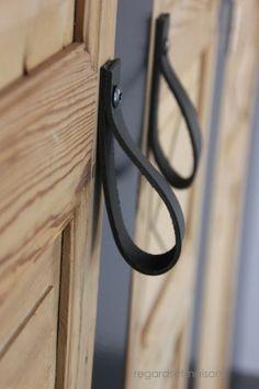 Des poignées de portes en cuir
