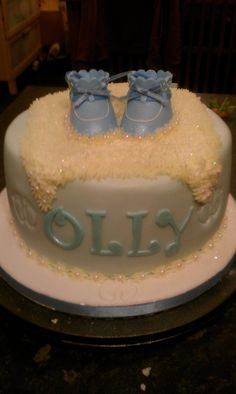Welcome the baby cake. Baby boy