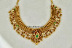 Antique Gold Choker Necklace