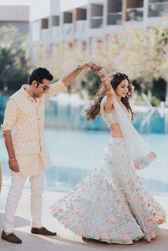 Ace designer Sonaakshi Raaj tied the knot with restaurateur Nikhil Merani in a destination wedding in Hua Hin. Wedding Looks, Bridal Looks, Bridal Style, Bridal Outfits, Bridal Dresses, Wedding Saree Collection, Indian Wedding Planning, Groom Wear, Bride Groom