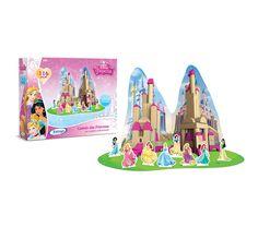 1849.8 - Blocos de Madeira Princesa Disney   Com 116 peças em madeira reflorestada.   Faixa etária: + 3 anos   Medidas: 35 x 6 x 27 cm   Licenciados   Xalingo Brinquedos   Crianças