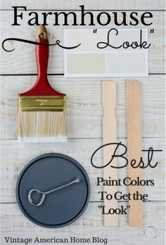 Best Paint colors for the Urban Farmhouse Look. Renovating a fixer upper and need to know what colors will look best? Designer paint colors. Prettiest choices.