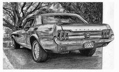 Ford-mustang-dibujo de henrydsv