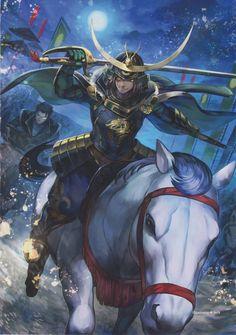 Samurai Warriors - Masumune Date (Favorite Charrie ^^) Sengoku Basara, Sengoku Musou, Samurai Warriors 4 Characters, Dnd Characters, Fantasy Characters, Dynasty Warriors, Warriors Game, Date Masamune, Ronin Samurai