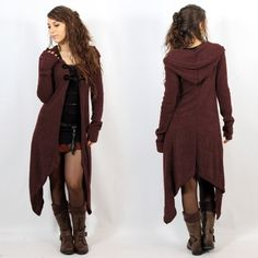 "Gilet witch ""makshi"", taille unique couleur marron"