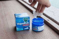 21 Amazing Uses of Vicks You Haven't Heard About    http://www.iseeidoimake.com/21-amazing-uses-of-vicks-you-havent-heard-about/    I have been using Vicks for so long and yet I didn't even know about this. Vicks VapoRub has been used for treating headaches, cold, cough, congested nose, chest and throat stuffiness ever since it has been released. In actuality, Vicks VapoRub can do so much more than this.