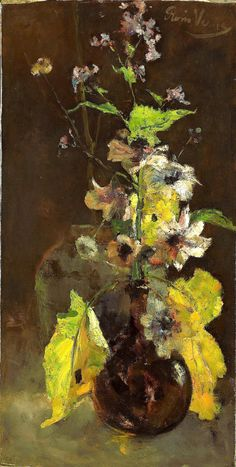 ❀ Blooming Brushwork ❀ garden and still life flower paintings - Floris Verster, Anemonen