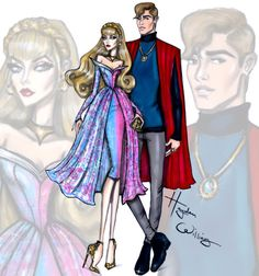 'Disney Darling Couples' by Hayden Williams: Aurora & Prince Phillip ‪