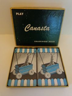 1950's Canasta Card Set with Score Pads. Cool Mid Century Design. by LeObjectUnique on Etsy