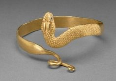 Snake bracelet, made in Greek Egypt, 300-100 BC.