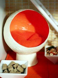Paper Mache Rat Egg Chair - PetDIYs.com