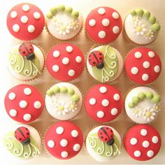lady bug baby shower cupcakes