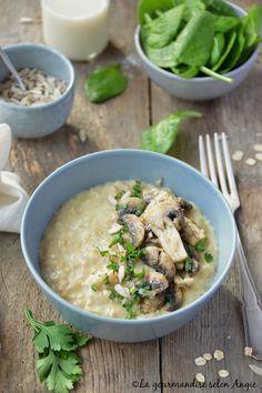 Oats Recipes, Veggie Recipes, Vegetarian Recipes, Healthy Recipes, Oatmeal Porridge, Vegan Kitchen, Breakfast Bowls, Tasty Dishes, My Favorite Food