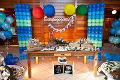 Customer photos of a fabulous dirt bike dessert table Motocross Birthday Party, Motorcycle Birthday Parties, Dirt Bike Party, Motorcycle Party, Balloon Lights, Balloon Backdrop, Balloon Columns, Balloons, 11th Birthday