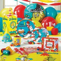 Dr Seuss first birthday theme
