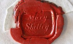 Mary Shelley letters discovered in Essex archive Professor finds cache of previously unpublished letters by author of Frankenstein, written between 1831 and 1849.  Mary Shelley's seal – previously unknown – on one of the letters. Photograph: Keith Crook