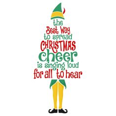 Elf Quote - Buddy the Elf Decal - Christmas Decal - Elf Decal - Christmas Sticker - Holiday Decal - Stocking Stuffer - Ornament Decal by FlourishandInkblots on Etsy Cute Christmas Wallpaper, Christmas Decals, Merry Christmas, Christmas Quotes, Christmas Pictures, Christmas Shirts, White Christmas, Diy Christmas, Christmas Stuff