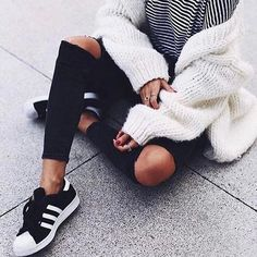 Sneakers women - Adidas Superstar via (zara___blog)