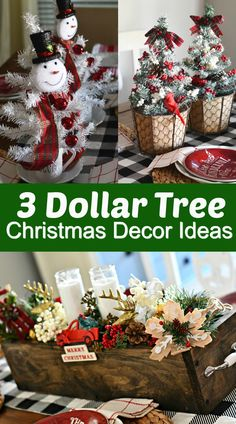 3 Simple & Fun DIY Dollar Tree Christmas Centerpieces 3 Simple & Fun DIY Dollar Tree Christmas Centerpieces,Weihnachten 3 Simple & Fun DIY Dollar Tree Christmas Centerpieces furniture gifts home decor tree crafts projects Decoration Christmas, Diy Christmas Ornaments, Xmas Crafts, Xmas Decorations, Christmas Wreaths, Diy Christmas Projects, Christmas Party Decorations Diy, Christmas Bathroom Decor, Farmhouse Christmas Decor