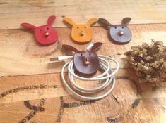 Die Kaninchen Kabel Halter Leder Kabelhalter