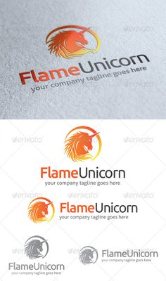 Flame Unicorn Logo — Photoshop PSD #superb #great • Available here → https://graphicriver.net/item/flame-unicorn-logo/4718268?ref=pxcr
