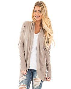 8eb4f6b028 Women s Casual Long Sleeve Soft Knit Sweater Outwear Open Front Kimono Cardigans  Sweater Coats