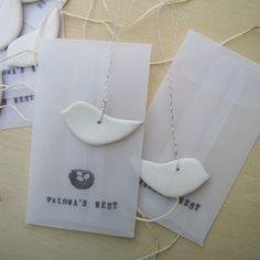 tiny dove ornaments set of 6 individually gift by palomasnest, $38.00