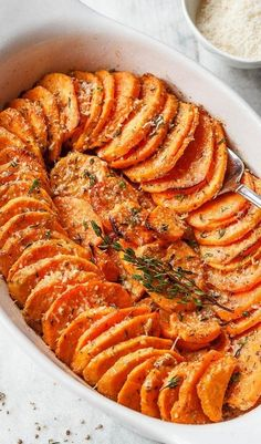 Potato Side Dishes, Vegetable Side Dishes, Vegetable Recipes, Sweet Potato Casserole, Sweet Potato Recipes, Cooking Baked Potatoes, Oven Roasted Sweet Potatoes, Side Dish Recipes, Dinner Recipes